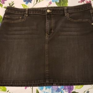 WHBM black jean skirt. 16. Like new. Accent pocket
